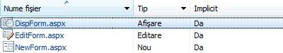 Formulare listă InfoPath pentru SharePoint