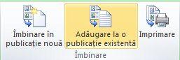 Îmbinare catalog într-o o publicație existentă