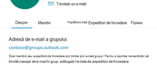 Adăugați expeditori de încredere într-un grup Outlook.com.