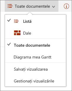 Meniul vizualizări din Microsoft Edge