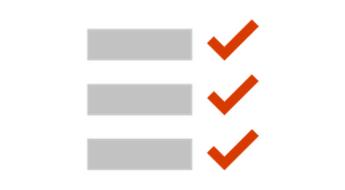 Ilustrație cu o listă de verificare conceptuală