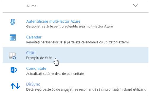 Program de completare implementat în centrul de administrare Office 365