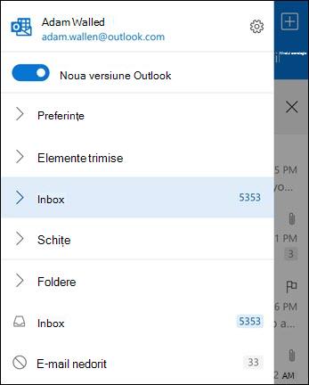 Lista de foldere și setările de acces