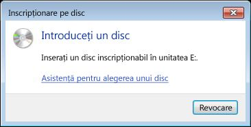 The Burn to Disc dialog box appears.