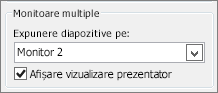 Opțiuni PowerPoint 2010 Monitor