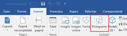 Grupul ilustrații conține instrumente care vă permit să adăugați forme, pictograme, elemente SmartArt și altele în document