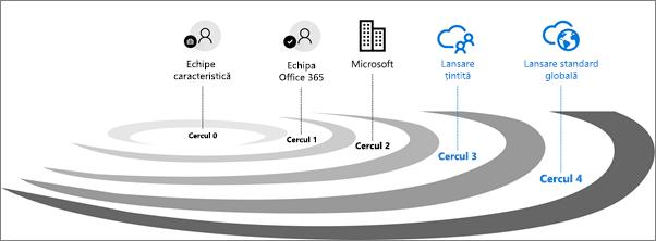 Cercurile de validare a lansărilor pentru Office 365.