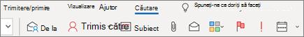 Utilizarea căutării în Outlook