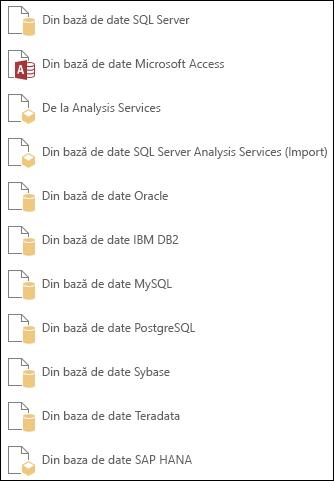 Obținerea datelor dintr-o bază de date