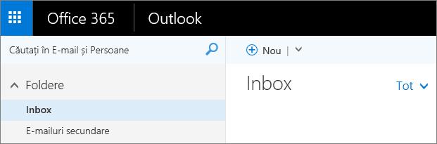 O imagine cu aspectul panglicii în Outlook pe web.