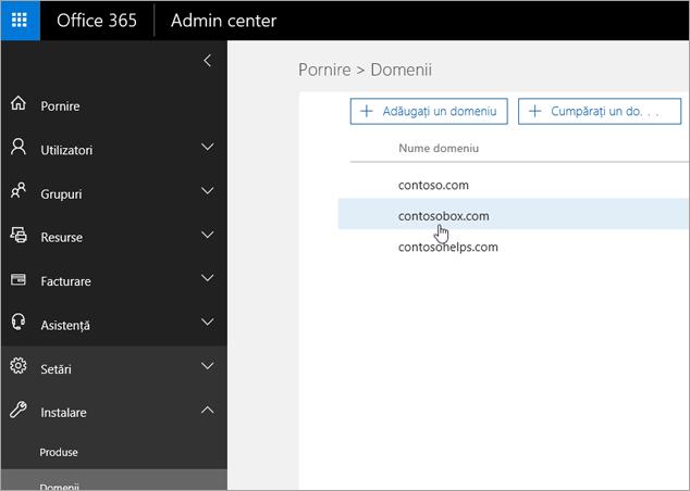 Selectați OVH domeniului în Office 365_C3_20176917563