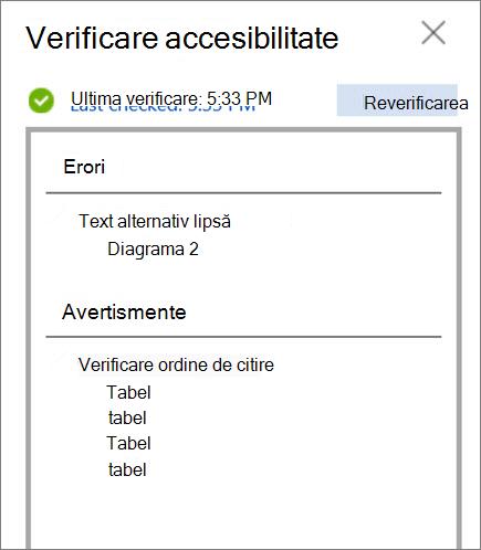 Verificarea accesibilitate în Word pentru web