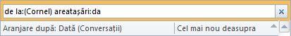 Exemplu de Căutare instantanee cu criterii de căutare multiple