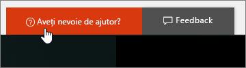 O imagine pentru butonul Aveți nevoie de ajutor? în centrul de administrare.