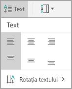Alinierea textului Android tabel