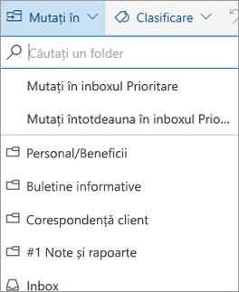 Mesaje prioritare din Outlook pe web
