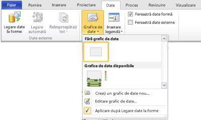 Selectați No Data Graphic pentru a elimina un grafic de date din formă.