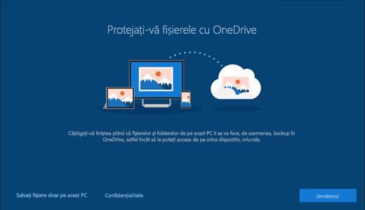 Captură de ecran cu configurarea Protecția fișierelor cu OneDrive în Windows 10