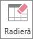 Butonul Radieră