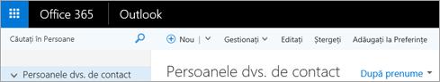 Cum arată panglica atunci când aveți Outlook pe web.