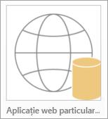 Pictograma de aplicație Access web particularizate