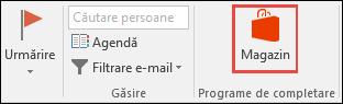Butonul Stocare în Outlook
