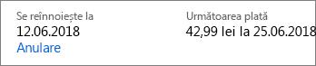 Link pentru a anula și abonament Office 365 pentru acasă.