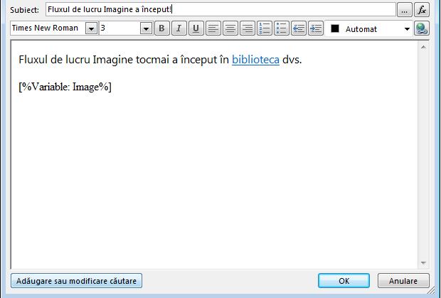 Corp de mesaj e-mail flux de lucru cu imagine