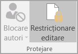 Opțiuni de protejare a documentelor