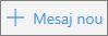 Captură de ecran ce afișează butonul Mesaj nou din Outlook.com.