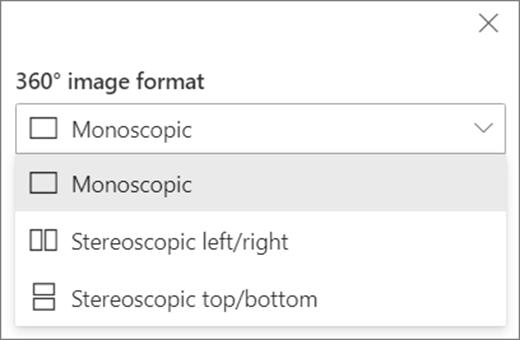 Opțiuni pentru formatul de imagine