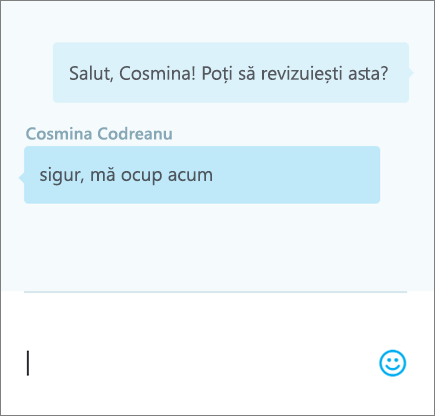 Discuțiile pe chat într-un document - 3