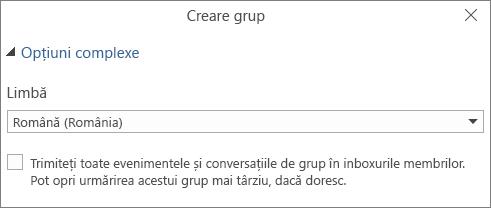 Alegeți să trimiteți mesaje de e-mail grupului în Inboxul utilizatorilor