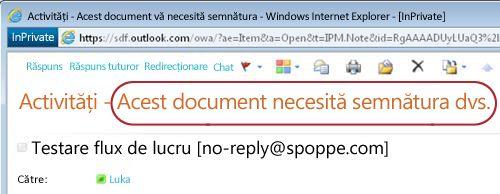 Identificarea textului în notificarea de activitate