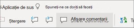 Afișare comentarii în Word pentru web