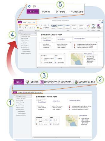OneNote Web App dintr-o privire