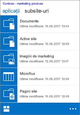 Vizualizarea mobilă iOS în Safari