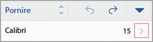 Accesați fonturi grup