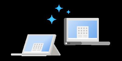2 tipuri diferite de dispozitive care rulează Windows 11