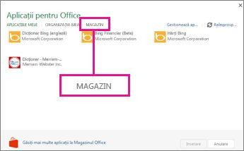 Faceți clic pe Magazin