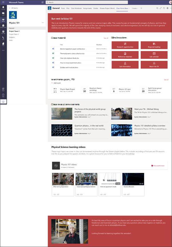 Site școlar pentru învățământ superior