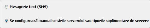 Configurarea manuală a setărilor de server în Outlook 2010