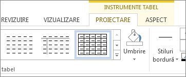 Fila Instrumente tabel