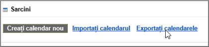 Alegeți Export calendare
