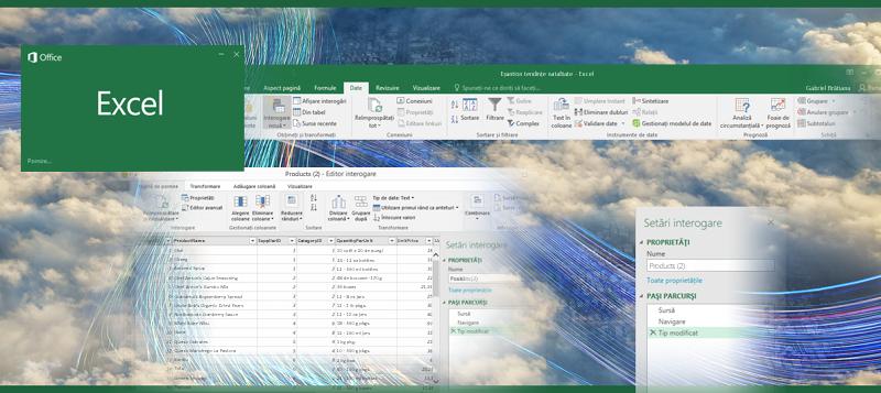Interogare în Excel 2016