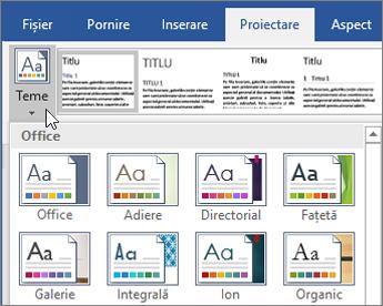 Office 365 - Teme Word