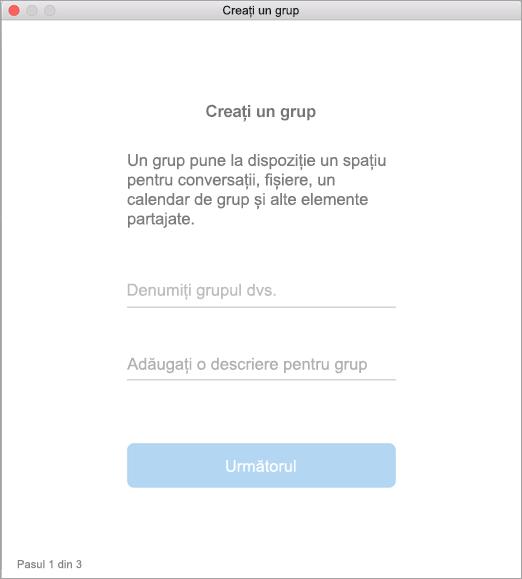 Se afișează crearea unei interfețe de utilizator de grup în Mac