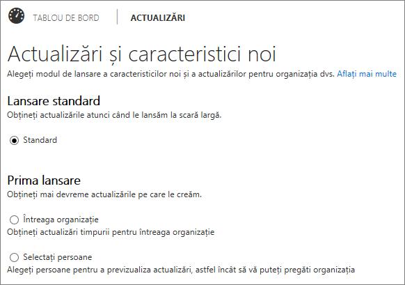 Programe standard și prima versiune