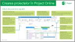 Crearea proiectelor în Ghidul de pornire rapidă Online Project