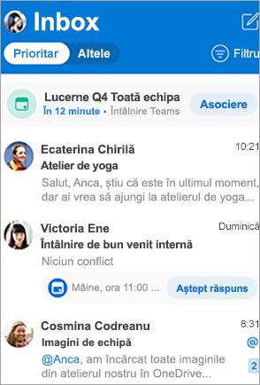 Show's Outlook inbox
